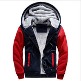 Men Jacket Winter Thick Warm Fleece Zipper Hoodies - The Accessorie Hub