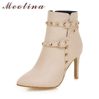 Women Ankle Boots High Heel Shoes - The Accessorie Hub