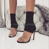 Ankle Wrap Thin High Heel Sandals - The Accessorie Hub