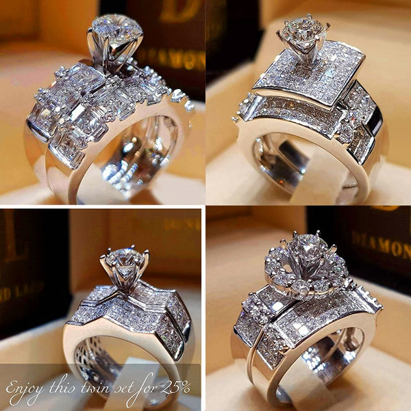 Crystal Zircon Wedding /Bridal Engagement Rings For Women - The Accessorie Hub