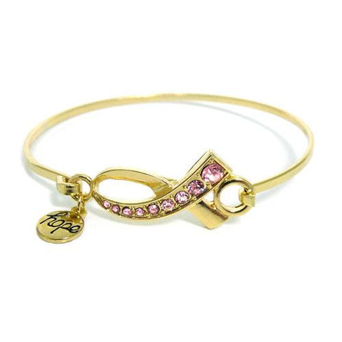 Pink Ribbon - Cancer awareness bracelet