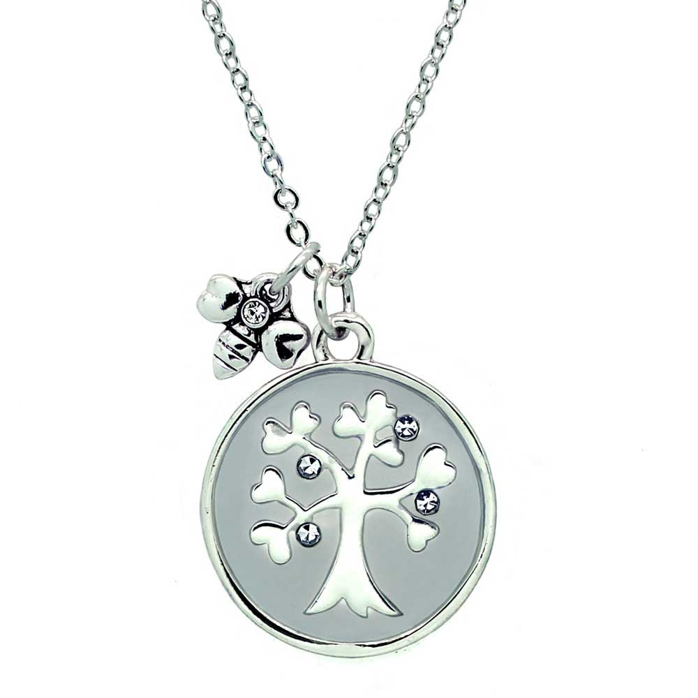 family necklace silver tree with sterling style pandora cz product