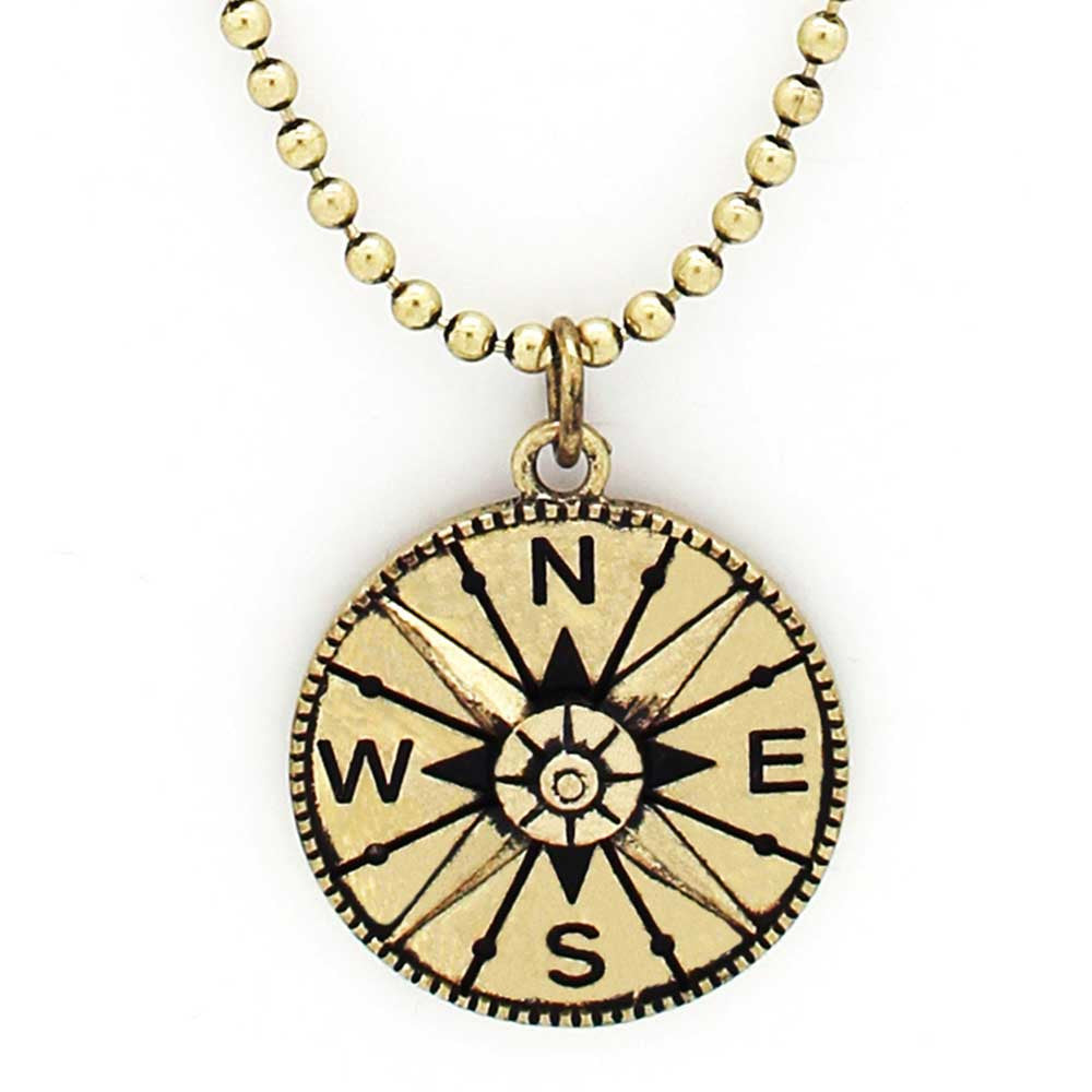 and gold compass necklace wid product sterling silver