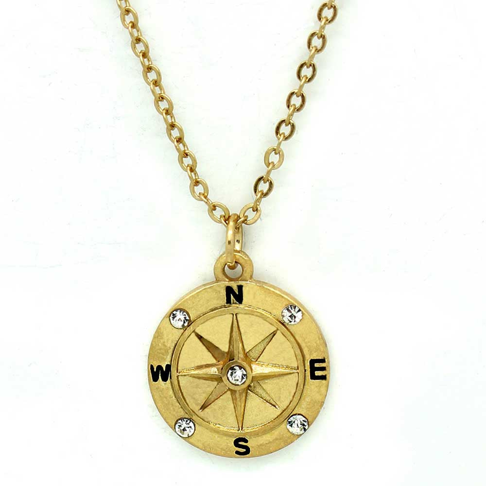 madisonhoneyvintage long vintage necklace honey by pendant original chain product compass madison