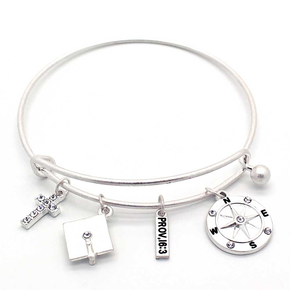 bracelet sideways sterling cross bangle handpicked bangles