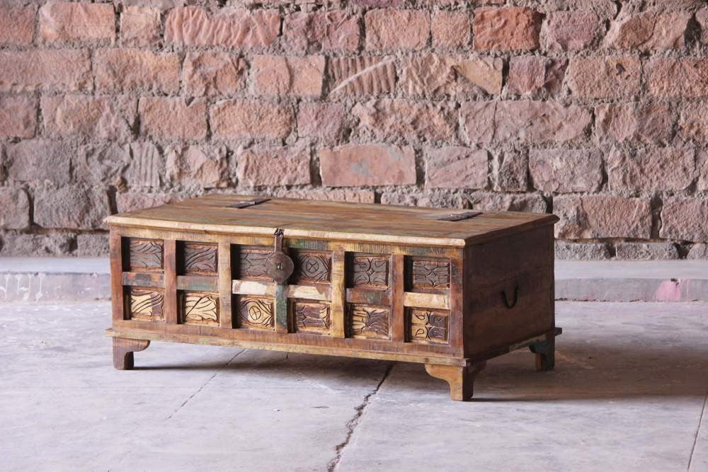 Aimee Upcycled Trunk Box Coffee Table