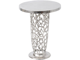 Lamp tables woodstock interiors romano coral pedestal side table mozeypictures Images