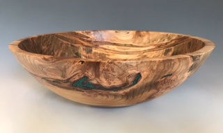 Ambrosia Maple Bowl with Malachite Inlay