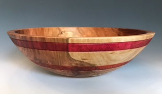 Cherry Bowl with Dyed and Etched Bandings