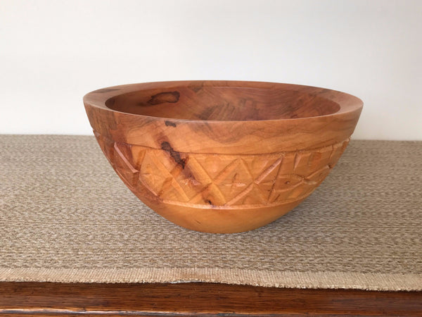 Hand Carved Ambrosia Maple Bowl