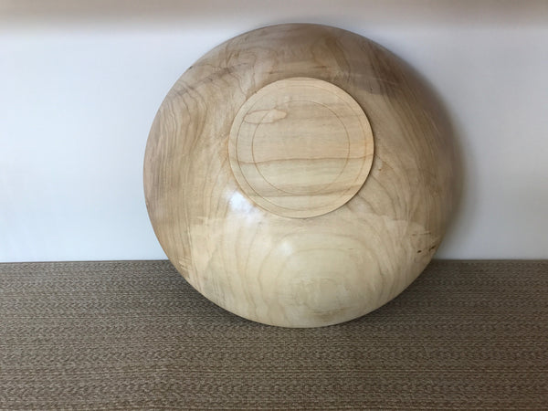 Maple Bowl with Pedestal Foot
