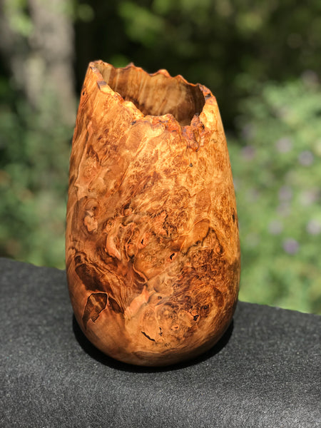 Maple Burl Live Edge Vase