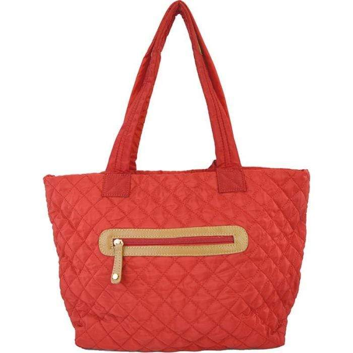 Adhorned Bags Quilted Zip Tote