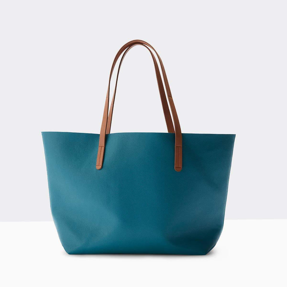 Boon Supply Bags Marine Blue Vegan Leather Carryall Tote