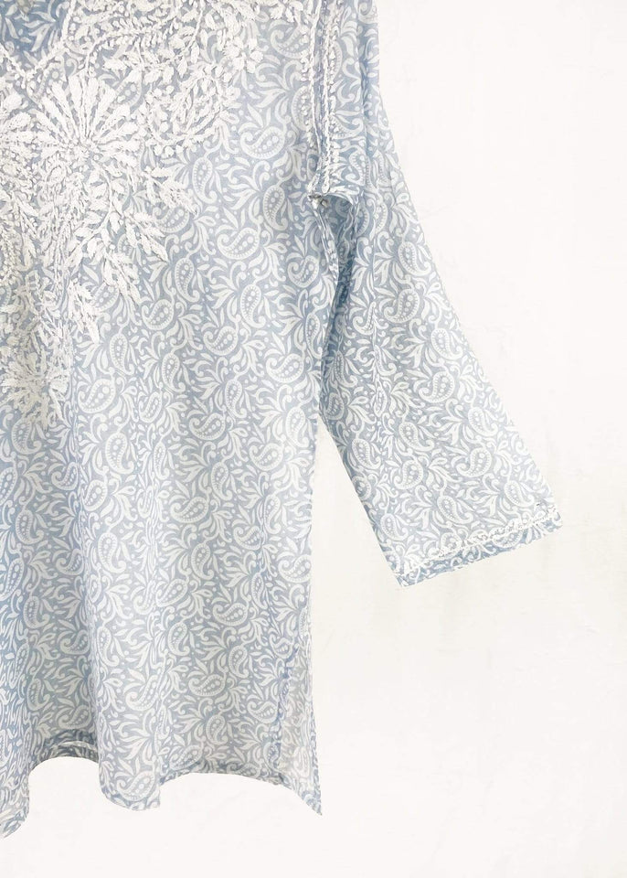 Dolma top Dolma Silver Hand Embroidered Cotton Tunic