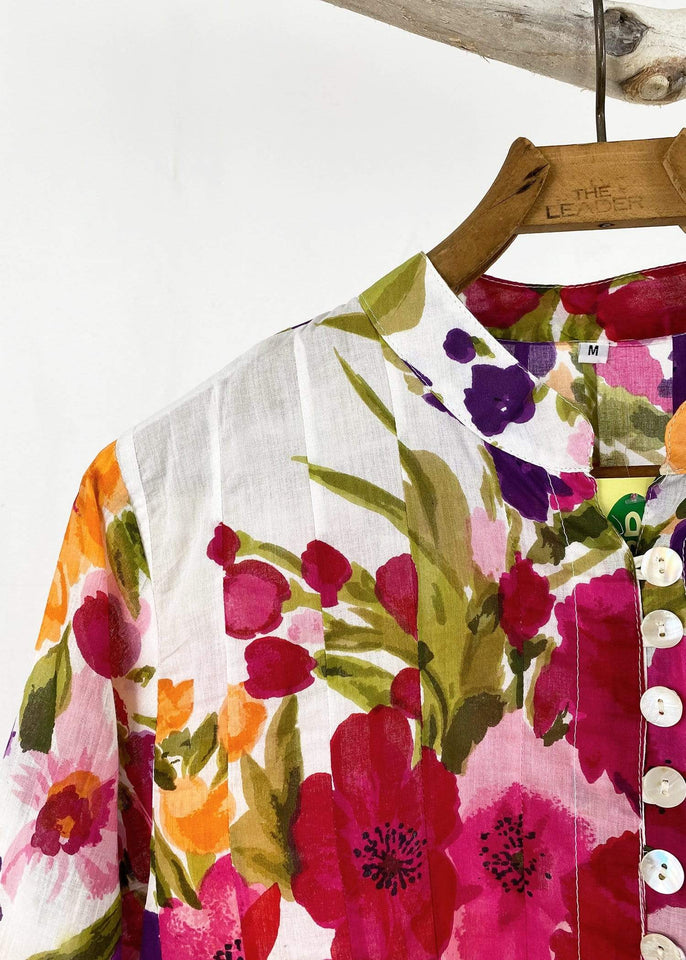Dolma top Wildflower Button Up Sujana Tunic