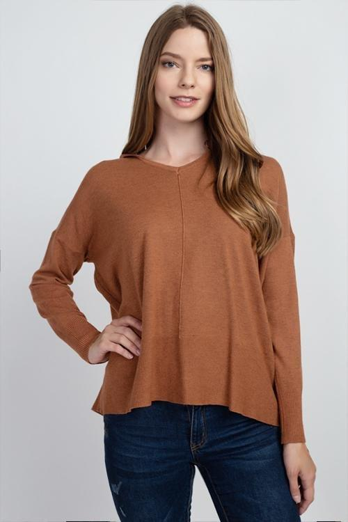 Dreamers top Heather Brandy / Small/Medium Dreamers Basic Hooded Sweater- More Colors Available!