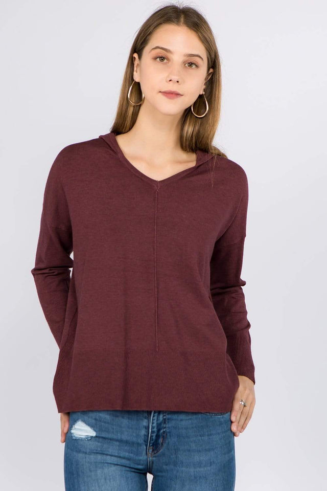 Dreamers top Heather Dust Plum / Small/Medium Dreamers Basic Hooded Sweater- More Colors Available!