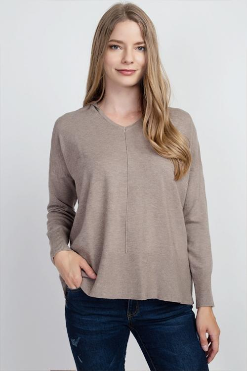 Dreamers top Heather Mocha / Small/Medium Dreamers Basic Hooded Sweater- More Colors Available!