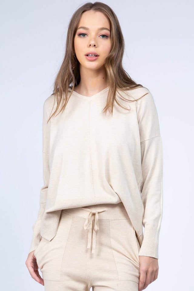 Dreamers top Heather Oatmeal / Small/Medium Dreamers Basic Hooded Sweater- More Colors Available!