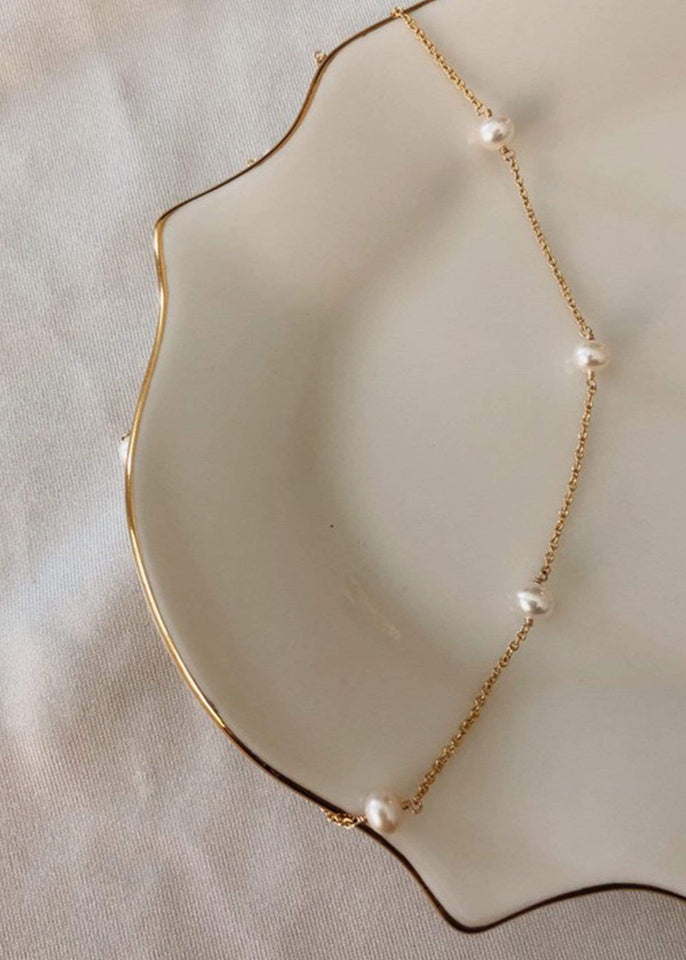 Flint J. Necklace Gold One in a Million Pearl Necklace