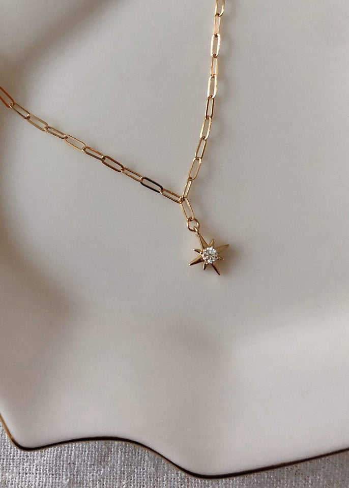 Flint J. Necklace Gold Wish Upon a Star Charm Necklace