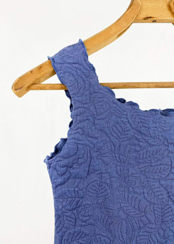 Haystacks Dress Blue Indigo Centric Textured Tank Dress