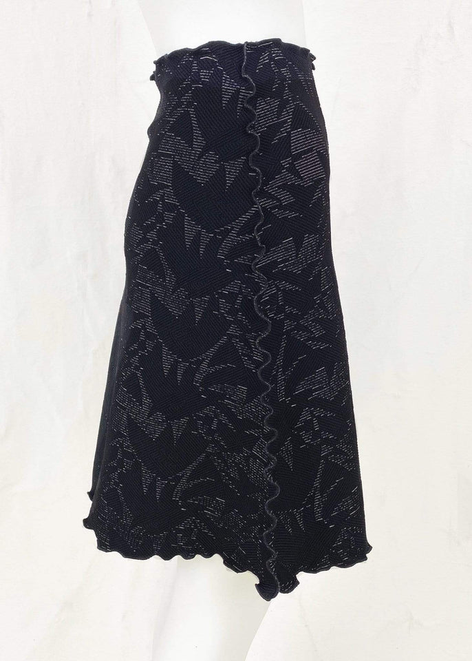 Haystacks Jacquard Knit Bias Black Galera Jacquard Knit Bias Skirt