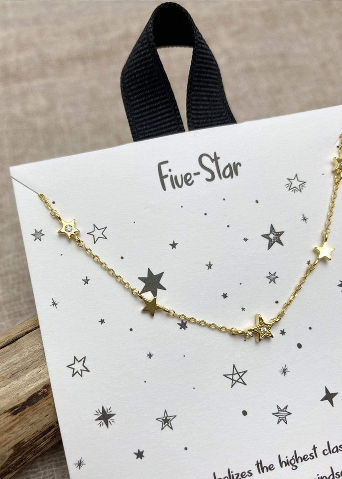 Haystacks Necklace Gold Five Star Mentality Dainty Necklace