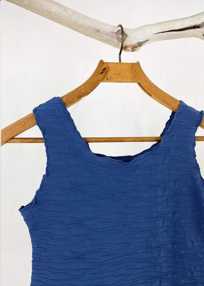 Haystacks top Blue Indigo Crinkle Charming Tank Top