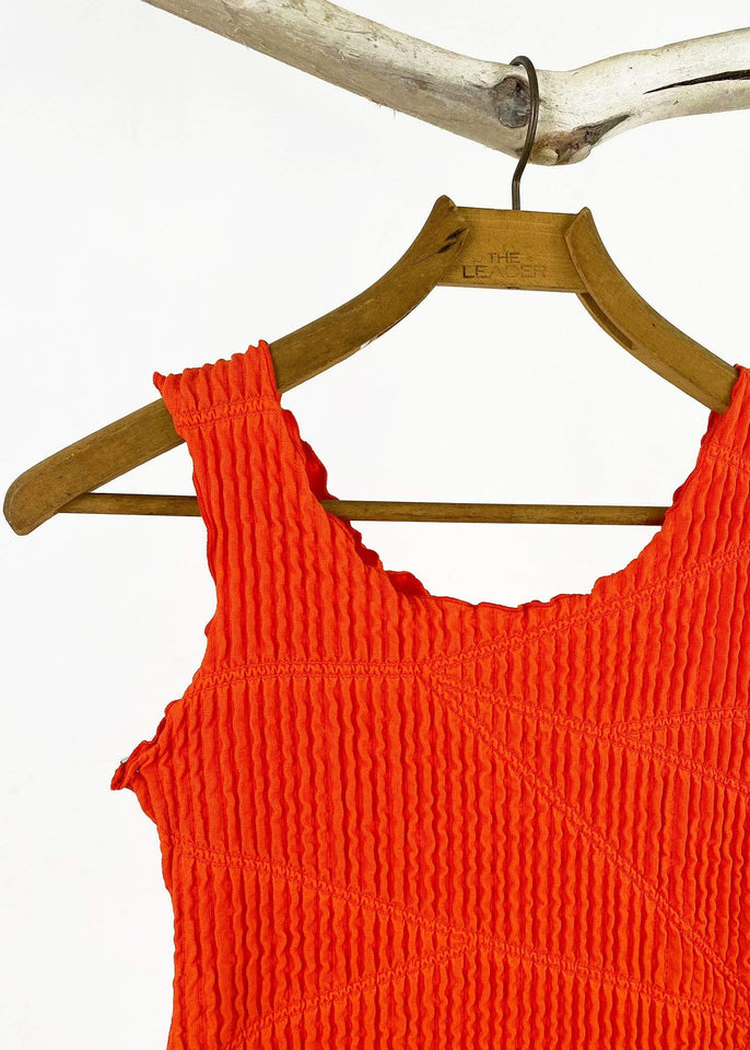 Haystacks top Mandarin Red Miura Charming Tank Top