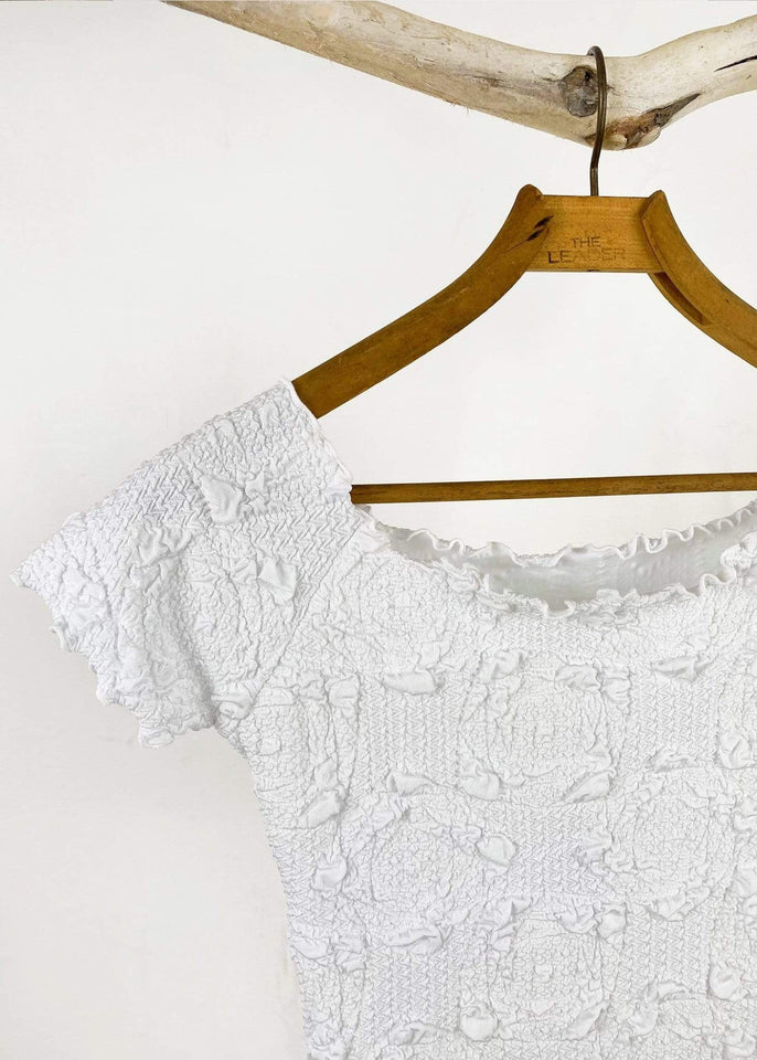 Haystacks top White Lyrac Brazilian Textured Ballet Top