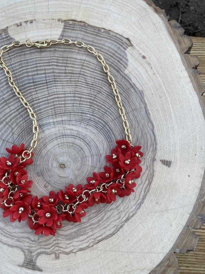 Jewelry Necklace Mandarin Red Zenzii Garden Necklace - More Colors!