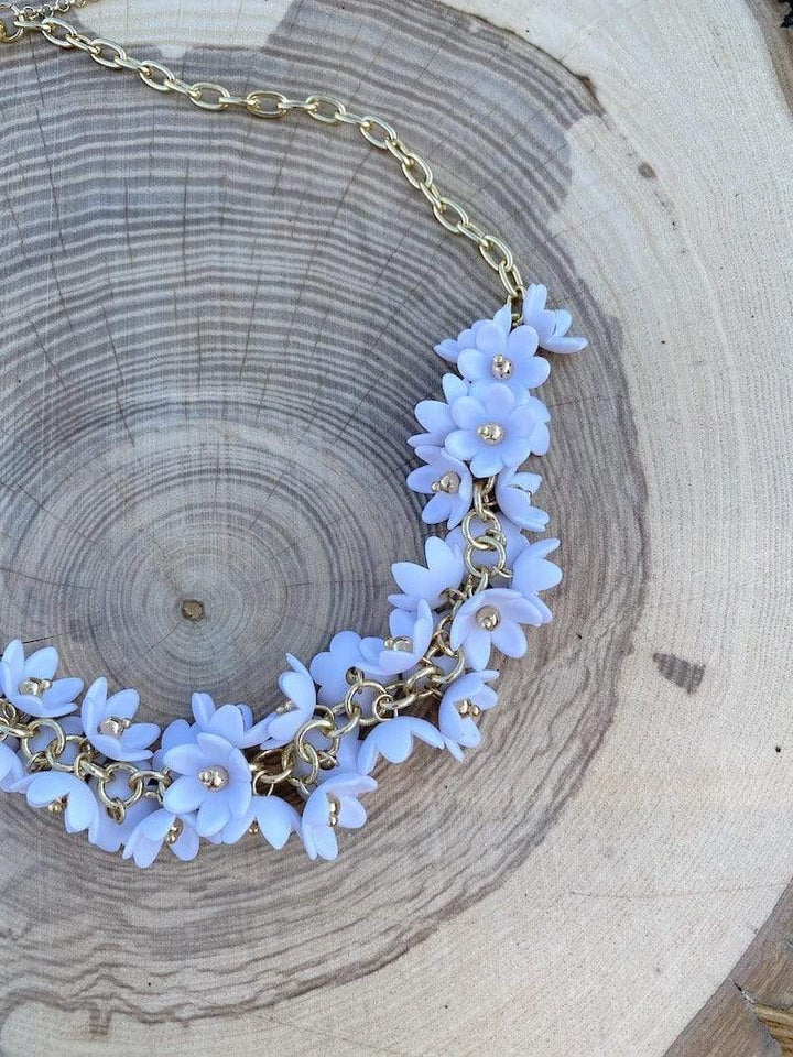 Jewelry Necklace White Zenzii Garden Necklace - More Colors!