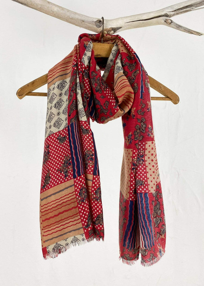 KW Fashion Scarf Vintage Heritage Scarf