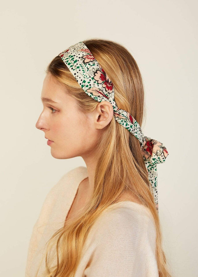 Look by M Hair Accessory Green Garden Scarf Headband