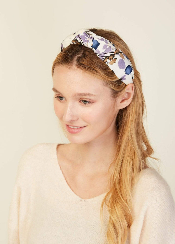 Look by M Hair Accessory Lilac Garden Knotted Headband