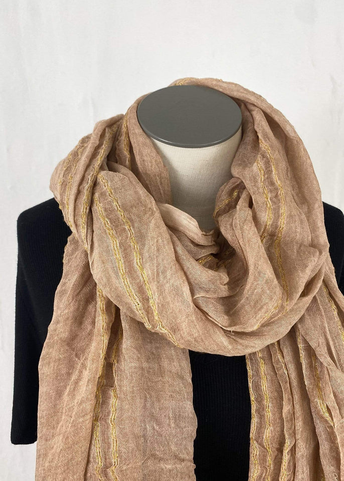 Look by M Scarf Rose Rose Gold Scarf