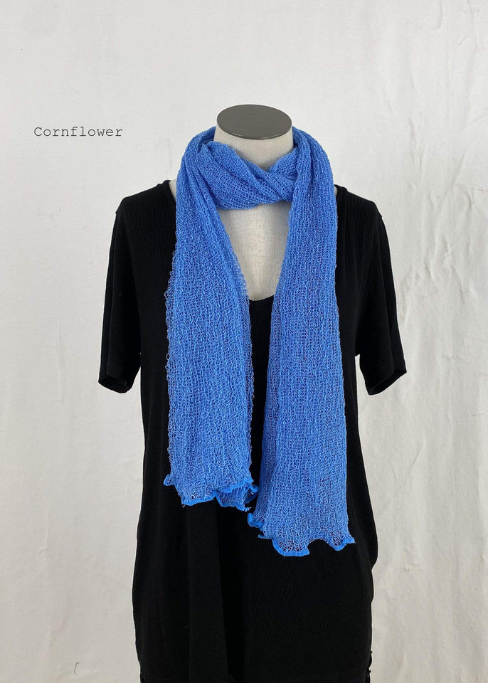 Lost River Scarf Cornflower Lightweight Knitted Scarf