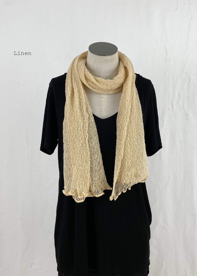 Lost River Scarf Linen Lightweight Knitted Scarf
