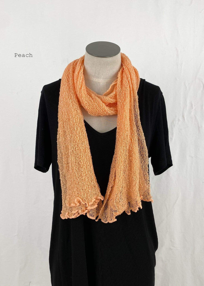 Lost River Scarf Peach Lightweight Knitted Scarf