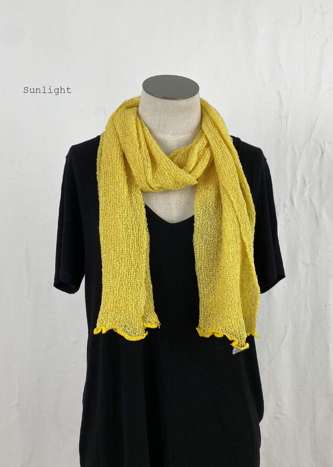 Lost River Scarf Sunlight Lightweight Knitted Scarf