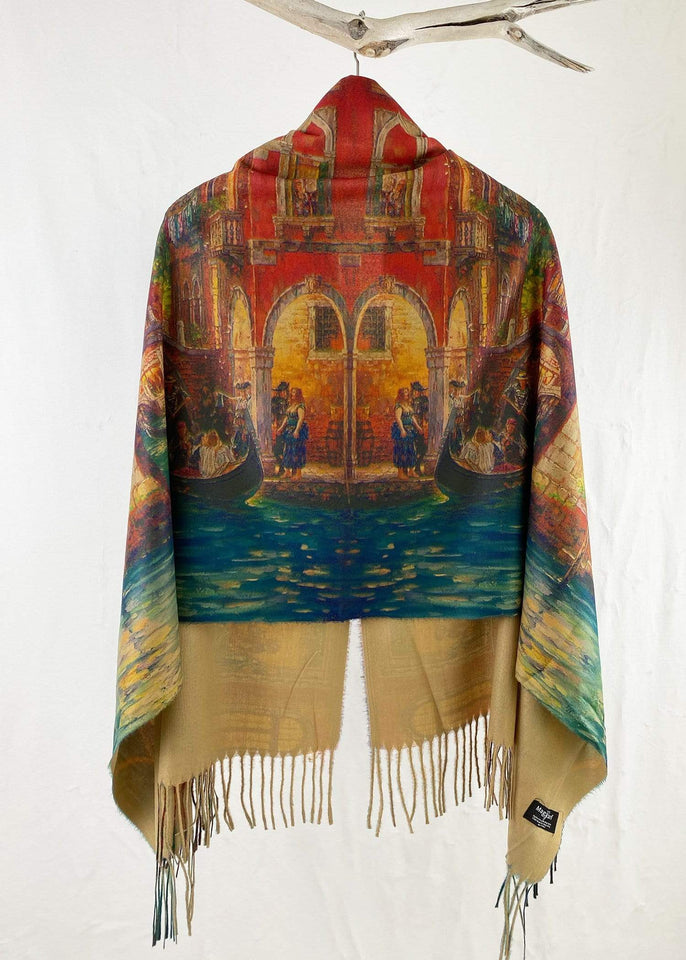 Magic Scarf Poncho One Size The Floating City Button Poncho