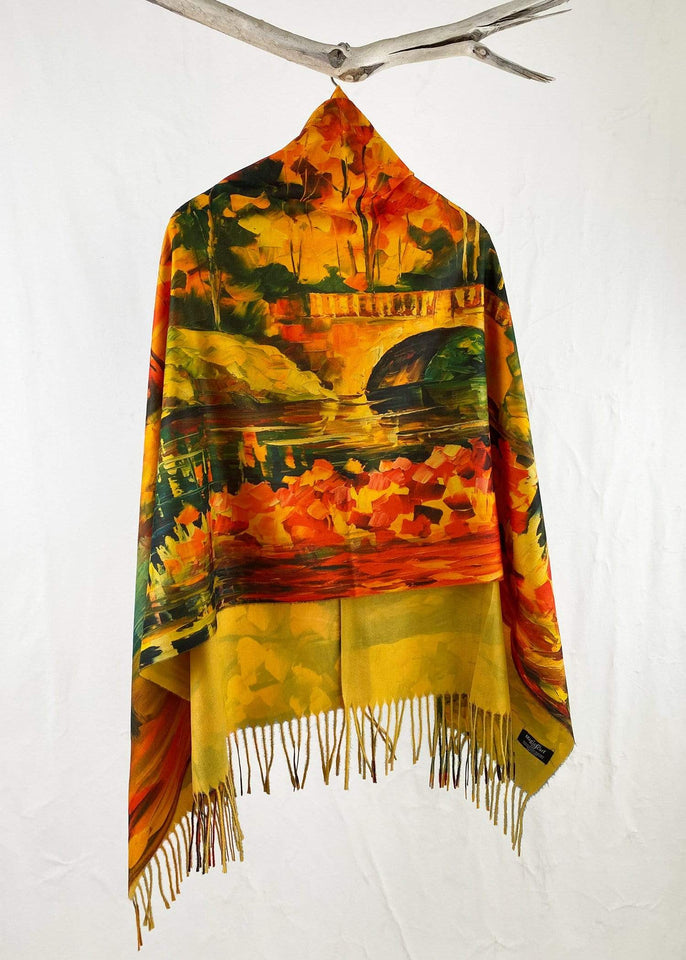 Magic Scarf Poncho One Size The Four Seasons Button Poncho