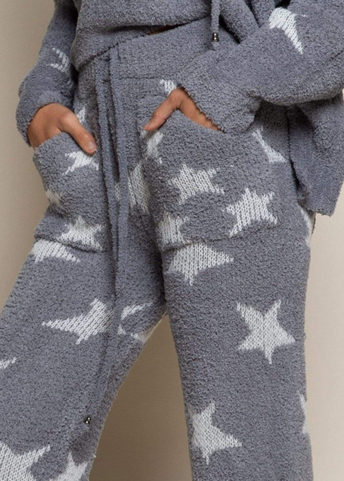 POL pant Star Gazing Berber Fleece Pant