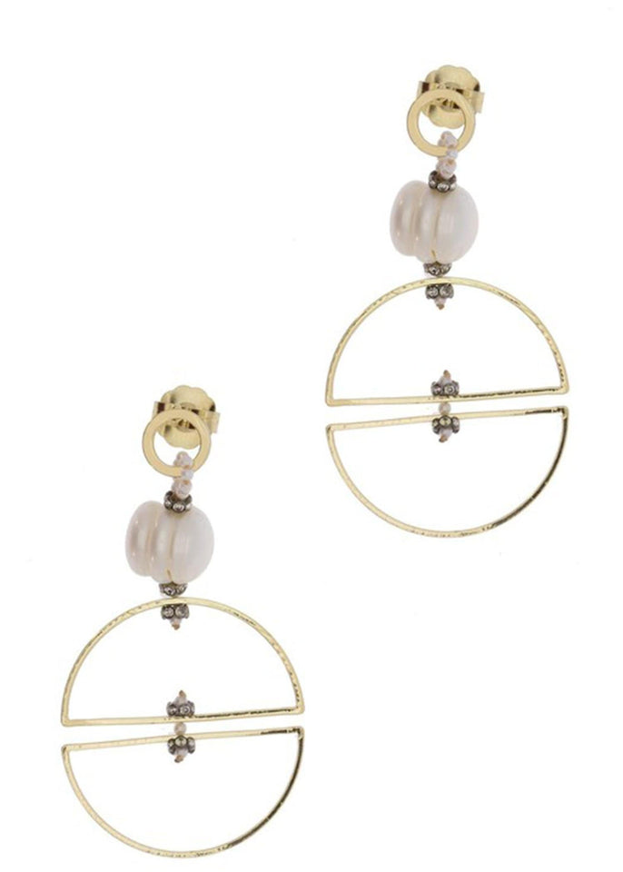 Saachi Earring Ivory Full Circle Drop Earring