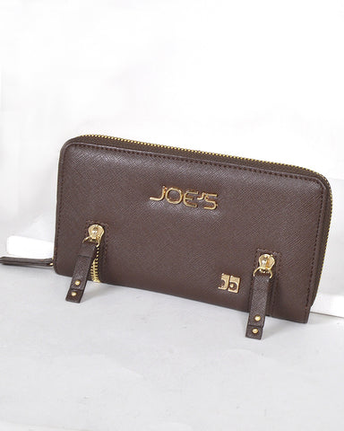 Textured Zip Detailing Clutch