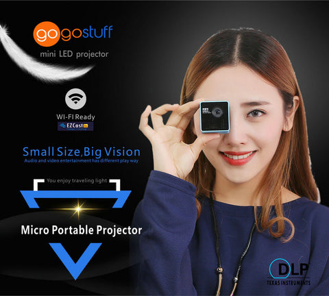 Gogo micro dlp projector portable wireless connection for Micro movie projector