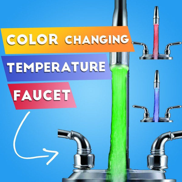 Temperature Sensor Faucet Light