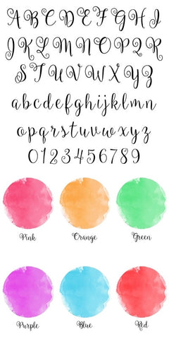 font and colour preview